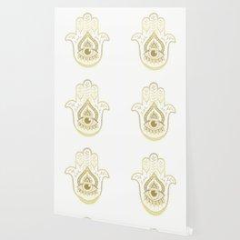 Hamsa Hand - Gold Wallpaper