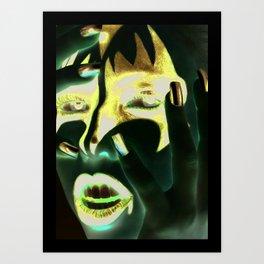 Kiss Gene Art Print