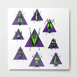 Bugs on triangles. Metal Print