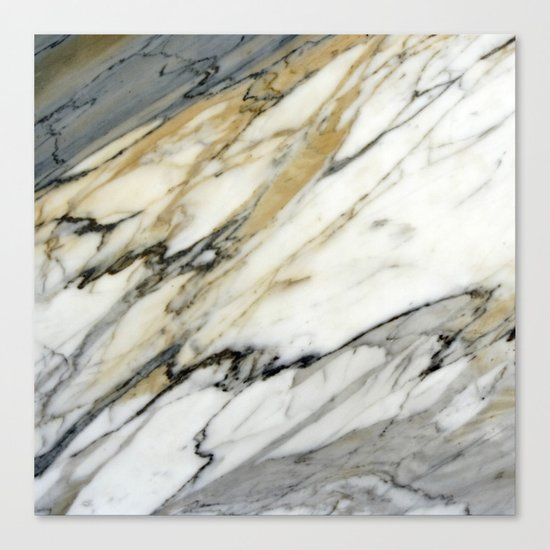 Carrara Marble Canvas Print