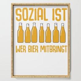 Beer hops malt bottle of booze funny gift Serving Tray