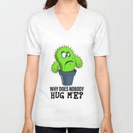 Funny Quote Clothing Gift Hug Me Unisex V-Neck