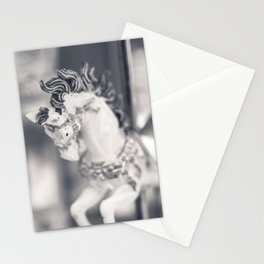 Vintage Carousel wood horse Stationery Cards