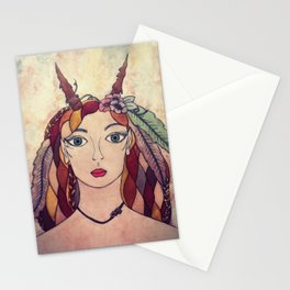 Lady of the Wood Stationery Cards