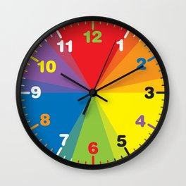 Color wheel by Dennis Weber / Shreddy Studio with special clock version Wall Clock