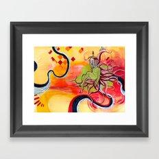 Green Cloud Framed Art Print