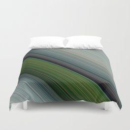 Decorative Colorful Green Blue Lines Design Duvet Cover