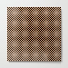 Butterum and Black Polka Dots Metal Print