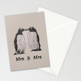 Wedding Penguins (Mrs. & Mrs.) Stationery Cards