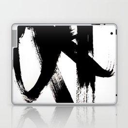 Brushstroke 2 - simple black and white Laptop & iPad Skin