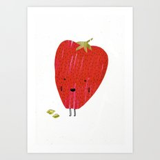 Eat Your Fruit! // Strawberry Art Print