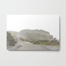 Foggy Ocean Drive Metal Print