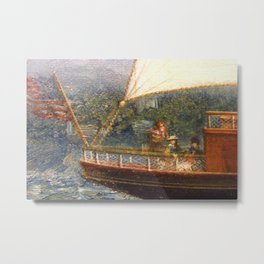 A Newport Ride - America's Cup - Narragansett Bay, Rhode Island by James Gale Tyler Metal Print