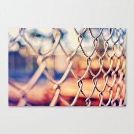 Fence Bokeh Canvas Print