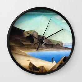 The High Shore by Lyonel Feininger Wall Clock