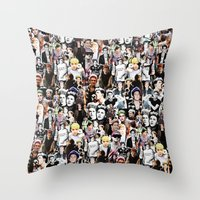 niall horan Throw Pillows featuring Punk Niall Horan College by Becca / But-Like-How
