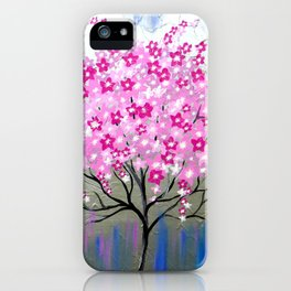 Pink Cherry Blossoms iPhone Case