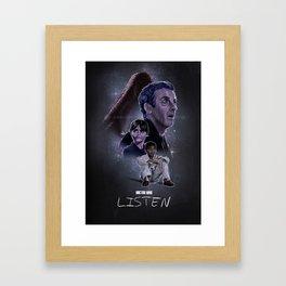 Doctor Who: Listen Framed Art Print