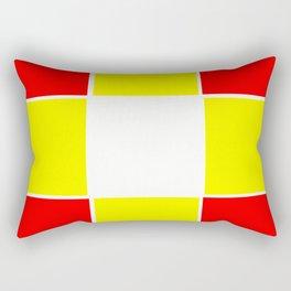 Team Colors 3....yellow ,red Rectangular Pillow