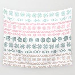 Modern pastel color geometrical scandinavian pattern Wall Tapestry