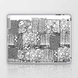 Doodle and the city Laptop & iPad Skin