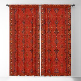 Red Heritage Berber Atlas North African Moroccan Style Blackout Curtain