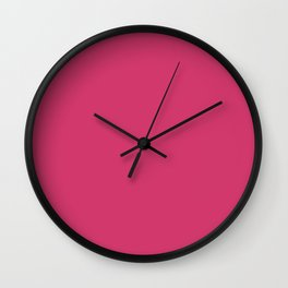 Raspberry Sorbet Color Accent Wall Clock