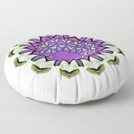 purple floral design Floor Pillow