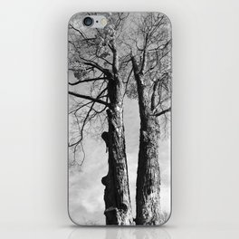 Pair of Trees (Black and White) iPhone Skin