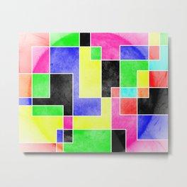 Colour Pieces Metal Print
