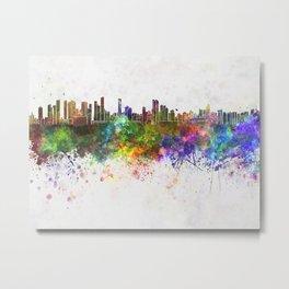 Belem skyline in watercolor background Metal Print
