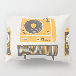 Vinyl Deck And Speakers Pillow Sham