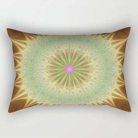 Fractal mandala sun Rectangular Pillow