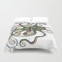 classic Duvet Covers featuring Octopsychedelia by TAOJB