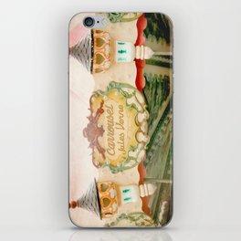 Jules Verne Carousel Art  iPhone Skin