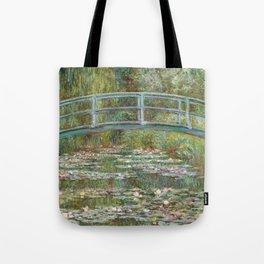 Monet, Water Lilies and Japanese Bridge, 1854 Tote Bag