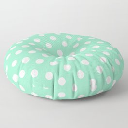 Polka Dots (White & Mint Pattern) Floor Pillow
