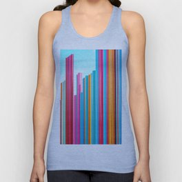 Colorful Rainbow Pipes Unisex Tank Top