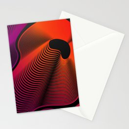 Abstract Moire Stationery Cards