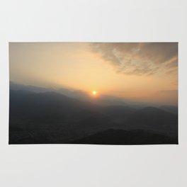 Sunrise in Pokhara Rug