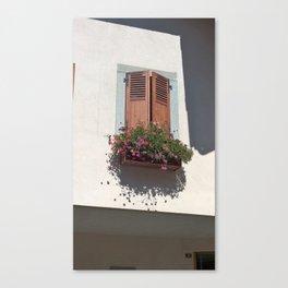 Alpine Village Window Flower Box Canvas Print