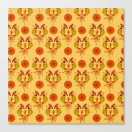 Fish in sweaters with umbrellas pattern with Octopi Canvas Print