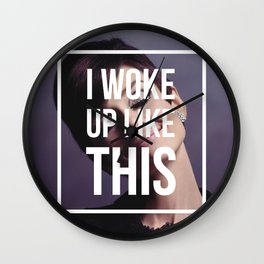 AUDREY HEPBURN | I Woke Up Like This Wall Clock
