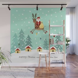 Hello Santa Claus Wall Mural