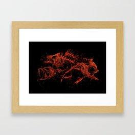red fishes Framed Art Print