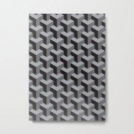 geometric b.w_01.op Metal Print