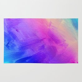 Colorful abstract gradient textured background Rug
