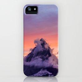 Himalayas Fishtail Mountain Sunset iPhone Case