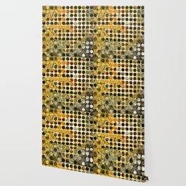 MELANGE OF YELLOW OCKER and BROWN Wallpaper