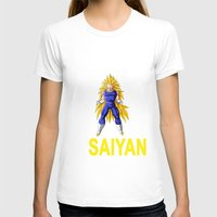 vegeta T-shirts featuring Train In Saiyan Vegeta  by nicksoulart